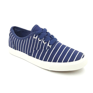 APPETITE SHOES- BLUE STRIPES CANVAS SNEAKERS (APVUL8295)