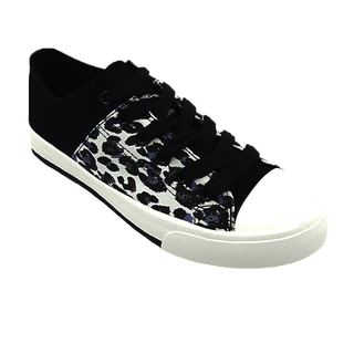 APPETITE SHOES- ANIMAL PRINT SNEAKERS (AP5541) BLACK