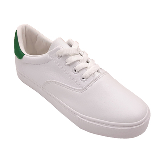 APPETITE SHOES- LACE UP FAUX LEATHER SNEAKERS  (APBE6825) WHITE GREEN