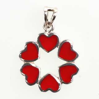 VAPD Heart Circle Red Enamel