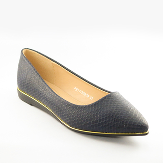Mendrez Danita Pointed ballerina shoes with gold piping