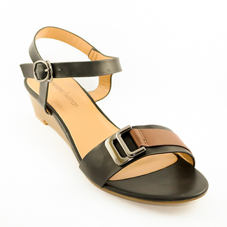 Mendrez Holly One strap sandals on wedge heel