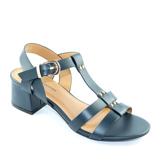 Mendrez Betty T strap sandals on block heel