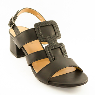 Mendrez Anne T strap sandals on block heel