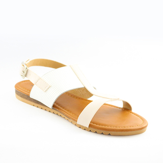Mendrez Paula T strap flat sandals