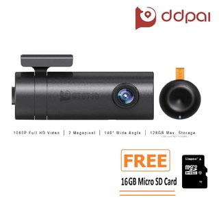 DDPai MINI Dashboard Camera (Black) with FREE 16GB Micro SD Card