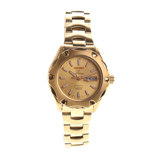 ALL YELLOW GOLD SEIKO LADIES WATCH - SYMJ50K1