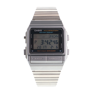 SILVER VINTAGE CASIO WORLD BANK. - DB-380-1DF