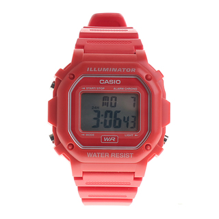 RED CASIO DIGITAL - F-108WA