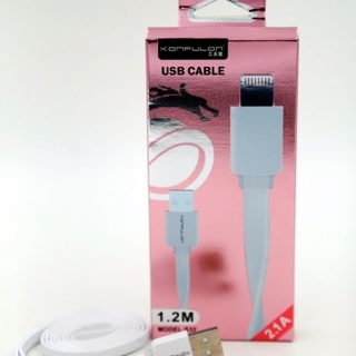 Flat USB iOS Cable