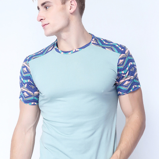 FC-M-009 CUT AND SEW TEE (GREEN COMBI A)