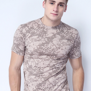 FC-M-201 S/S ROUND NECK TEE (PRINTED MOCCA)