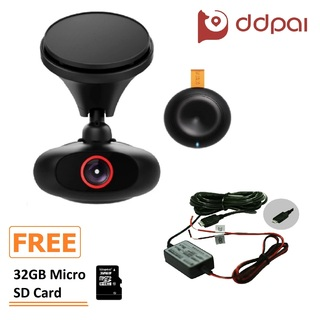 DDPai M4 Plus Dashboard Camera (Black) with FREE Car Vehicle Hard Wire and 32GB Micro SD Card