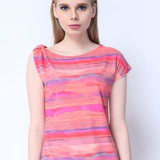 FC-W-208 ONE SIDED SHOULDER TOP (ORANGE,PINK,RED)