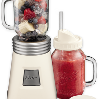 Oster Ball Mason Jar Blender White (BLSTMM2-BWH)