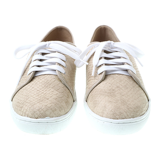 Janylin Beige Sneakers With Shoe Lace And Platform (525-700-Beige)
