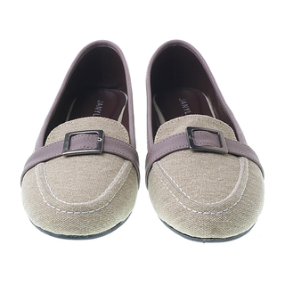 Janylin Loafer Flats With Buckle Detail (499-014-LT.Gray)