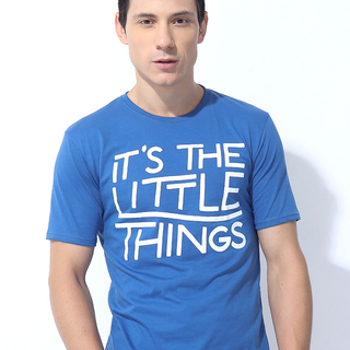 IT'S THE LITTLE THINGS OOTEED GRAPHIC BRILLIANT BLUE (M6HETG31L)