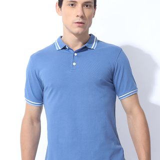 TWIN TIPPED COLLAR AND CUFF DETAILED POLOTEE CHAMBRAY (M7SCTP10L)