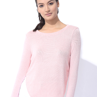 KNITTED PULLOVER LIGHT PINK  (L7BCTL02P)