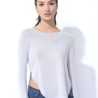 KNITTED PULLOVER LIGHT BLUE (L7BCTL03L)