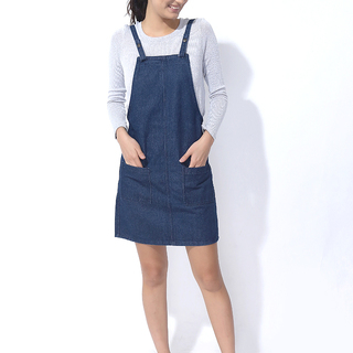 FOLDED AND HUNG JUMPER DRESS (L7SPBK08L)