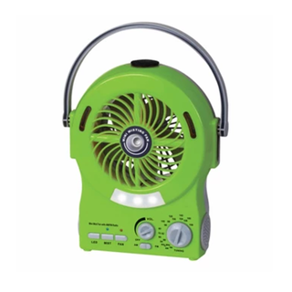 Rechargeable Mini Mist Fan w/ AM/FM Radio (AMF-M3256B)