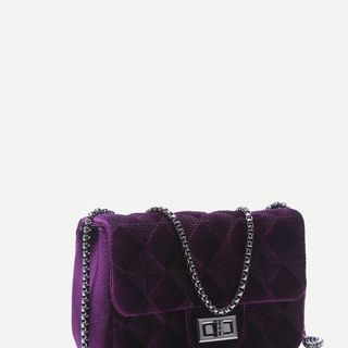 Purple Velvet Sling Bag