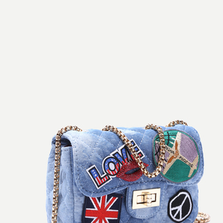 Patchwork Denim Sling Bag