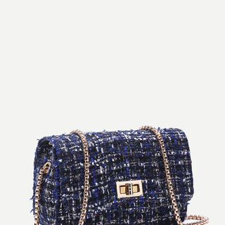Blue Woolen Sling Bag