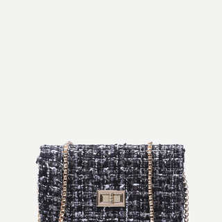 Black Woolen Sling Bag