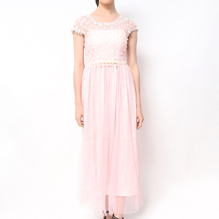 Host Long Dress Lace Top And Tulle Skirt