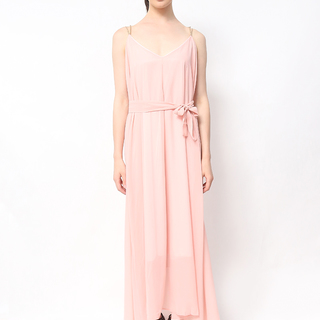 Host Long Dress With Gold Chain