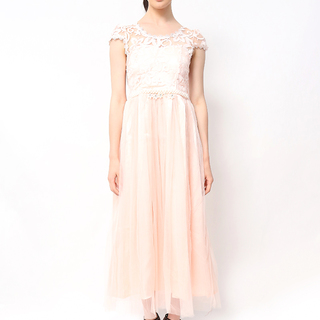 Host Long Dress Lace Top With Tulle Skirt