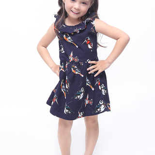 BASICS FOR KIDS GIRLS DRESS - BLUE (G905665-G905675)