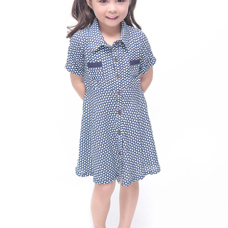 BASICS FOR KIDS GIRLS DRESS - BLUE (G905985-G906005)