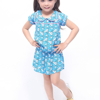 BASICS FOR KIDS GIRLS DRESS - BLUE (G905895-G905915)