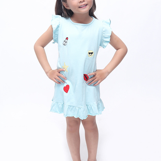 BASICS FOR KIDS GIRLS DRESS - GREEN (G905517-G905537)