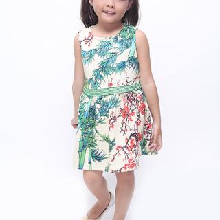 BASICS FOR KIDS GIRLS DRESS - GREEN (G905807-G905827)