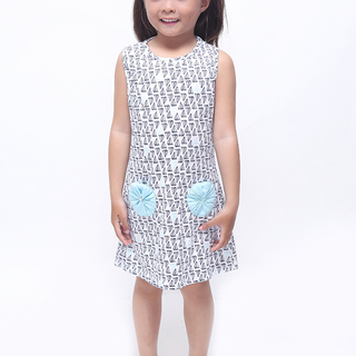 BASICS FOR KIDS GIRLS DRESS - WHITE (G905920-G905940)