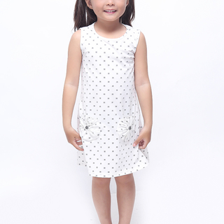 BASICS FOR KIDS GIRLS DRESS - WHITE (G905610-G905630)