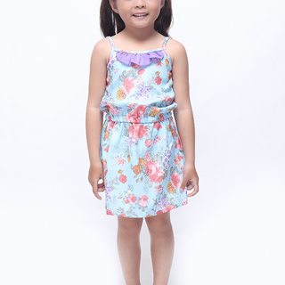 BASICS FOR KIDS GIRLS DRESS - BLUE (G905585-G905605)