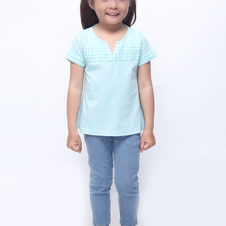 BASICS FOR KIDS GIRLS BLOUSE - GREEN (G307567-G307587)