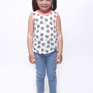 BASICS FOR KIDS GIRLS BLOUSE - WHITE (G213710-G213720)