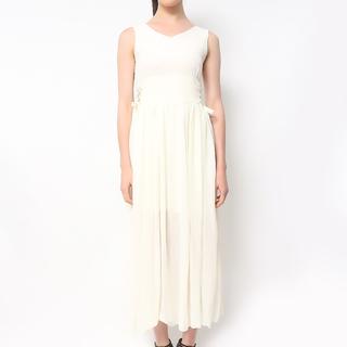 Host Cream Corset Sides Long Dress (Freesize)