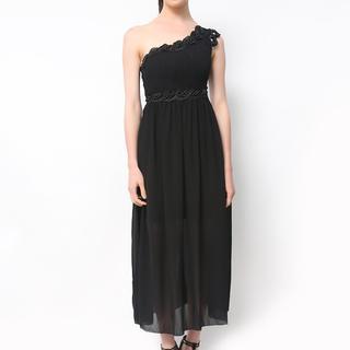 Host Black One Shoulder Long Dress (Freesize)
