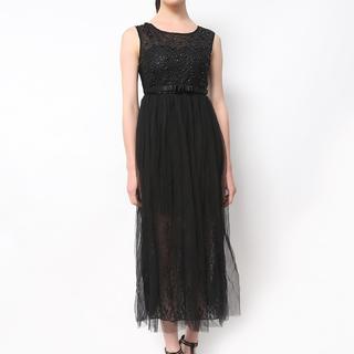 Host Black Princess Gown With Garterized Waist (Freesize)