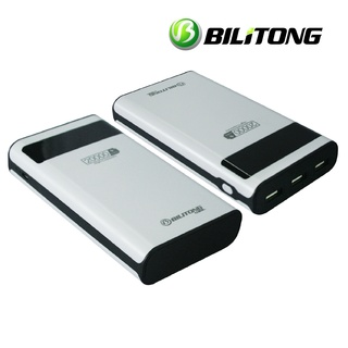 Bilitong BLT-A009 20000mAh 3 USB LED High Capacity Power Bank (White)
