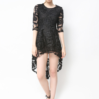 HOST HIGH QUALITY LACE LONG BACK DRESS (FREE SIZE)