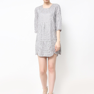HOST SEQUINNED DRESS SCALLOP DESIGN (FREE SIZE)